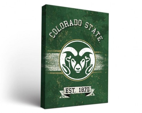 Colorado State Rams Banner Canvas Wall Art