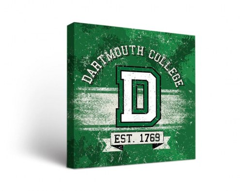 Dartmouth Big Green Banner Canvas Wall Art