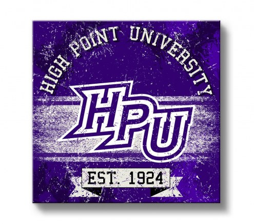 High Point Panthers Banner Canvas Wall Art