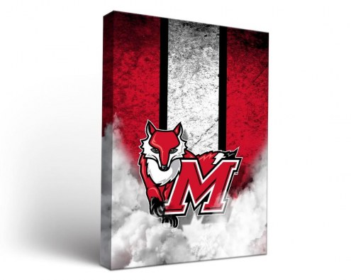 Marist Red Foxes Vintage Canvas Wall Art