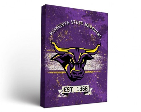 Minnesota State Mavericks Banner Canvas Wall Art