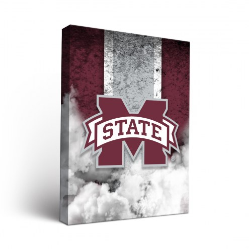 Mississippi State Bulldogs Vintage Canvas Wall Art