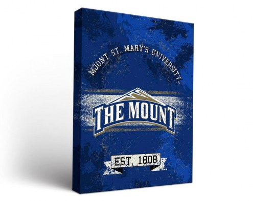 Mount St. Mary's Mountaineers Banner Canvas Wall Art