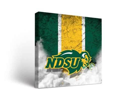 North Dakota State Bison Vintage Canvas Wall Art