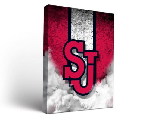 St. John's Red Storm Vintage Canvas Wall Art
