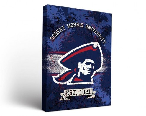 Robert Morris Colonials Banner Canvas Wall Art