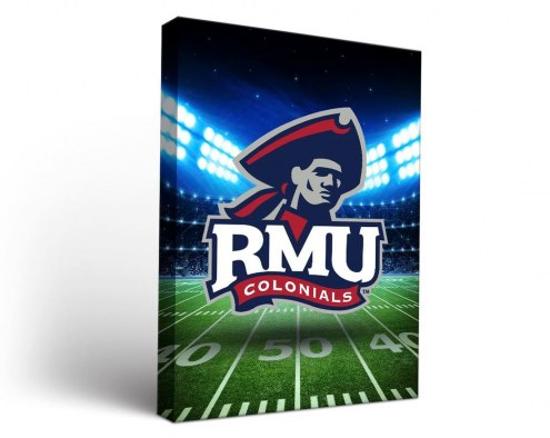 Robert Morris Colonials Stadium Canvas Wall Art