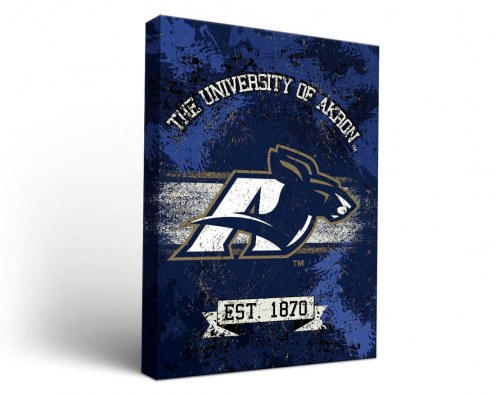Akron Zips Banner Canvas Wall Art