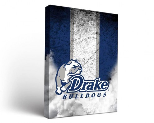 Drake Bulldogs Vintage Canvas Wall Art