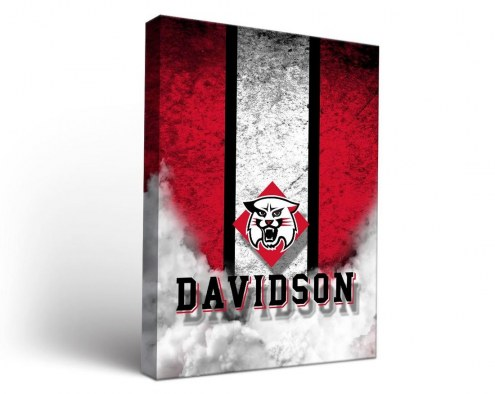 Davidson Wildcats Vintage Canvas Wall Art