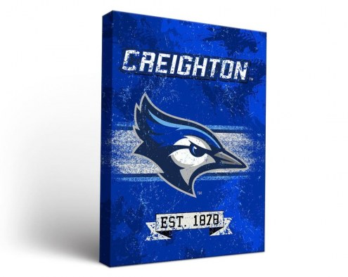 Creighton Bluejays Banner Canvas Wall Art