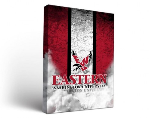 Eastern Washington Eagles Vintage Canvas Wall Art