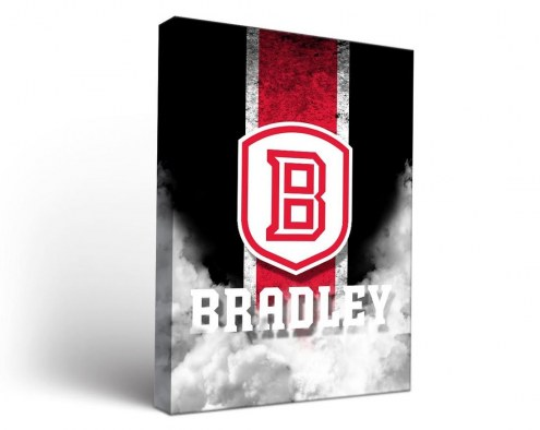 Bradley Braves Vintage Canvas Wall Art