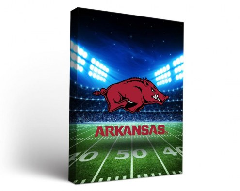 Arkansas Razorbacks Stadium Canvas Wall Art