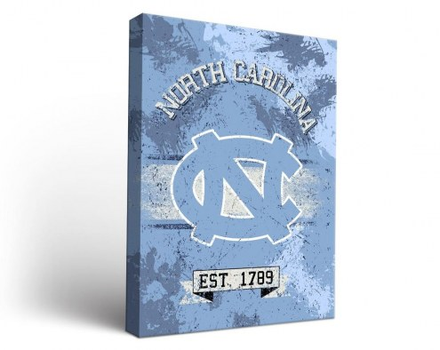 North Carolina Tar Heels Banner Canvas Wall Art