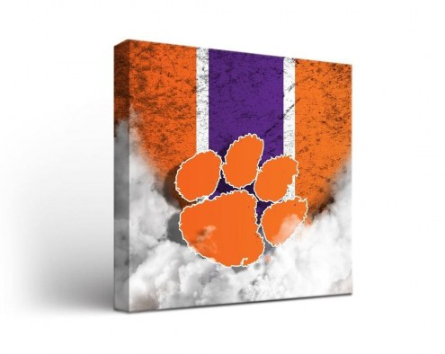 Clemson Tigers Vintage Canvas Wall Art