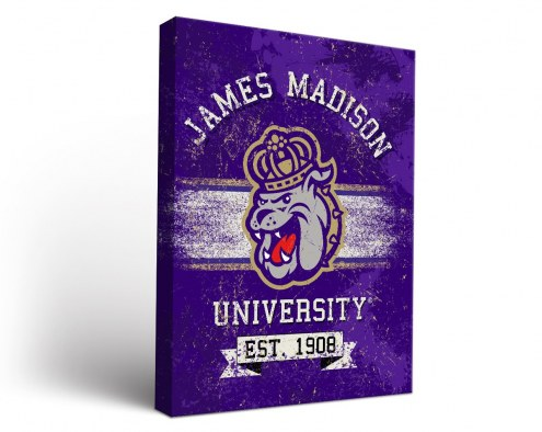 James Madison Dukes Banner Canvas Wall Art