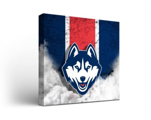 Connecticut Huskies Vintage Canvas Wall Art