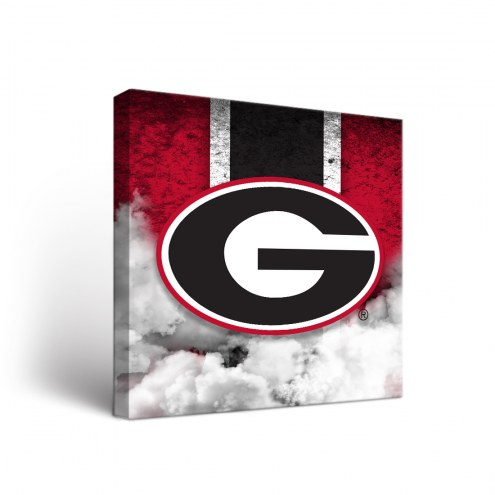 Georgia Bulldogs Vintage 1 Canvas Wall Art