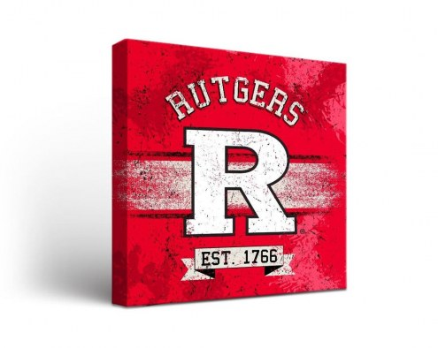 Rutgers Scarlet Knights Banner Canvas Wall Art