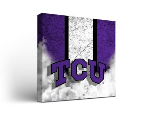 Texas Christian Horned Frogs Vintage Canvas Wall Art