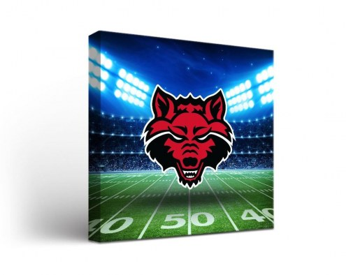 Arkansas State Red Wolves Stadium Canvas Wall Art