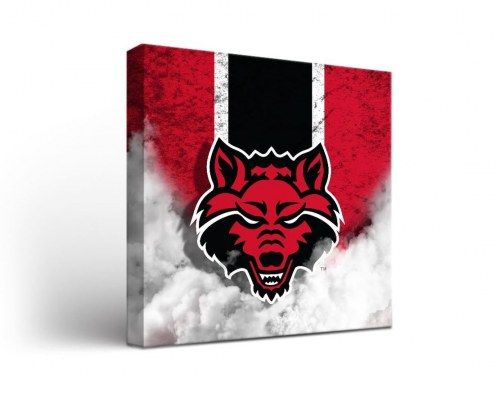 Arkansas State Red Wolves Vintage Canvas Wall Art