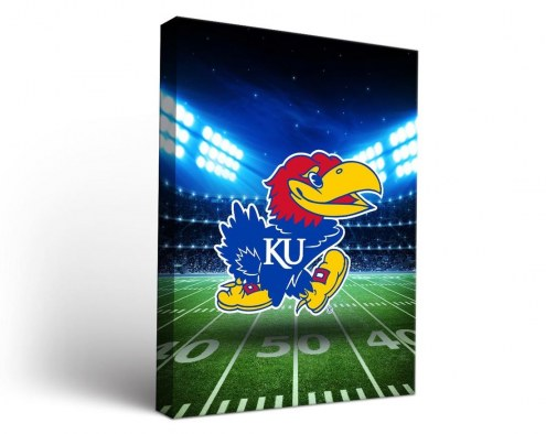 Kansas Jayhawks Stadium Canvas Wall Art