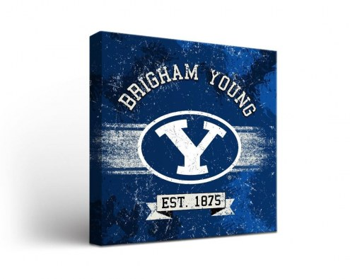 BYU Cougars Banner Canvas Wall Art