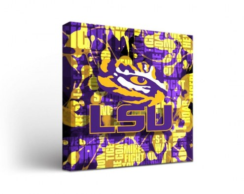 LSU Tigers Fight Song Canvas Wall Art