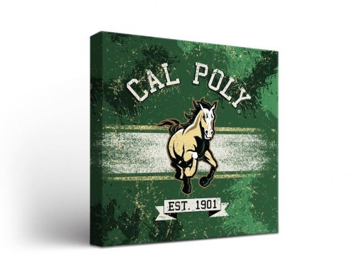 California Polytechnic State Mustangs Banner Canvas Wall Art