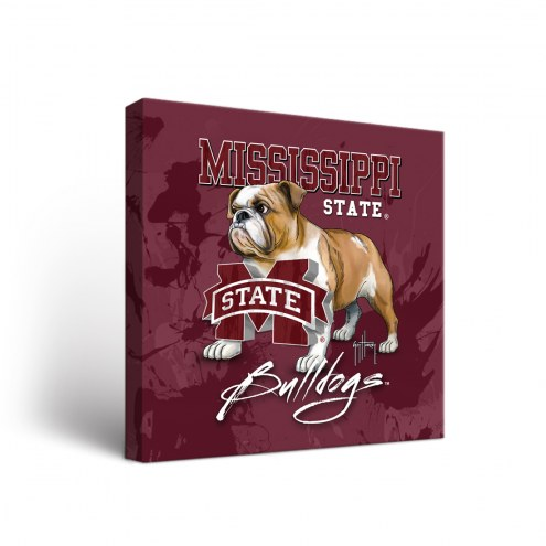 Mississippi State Bulldogs Guy Harvey Canvas Wall Art