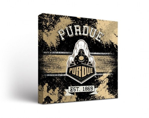 Purdue Boilermakers Banner Canvas Wall Art