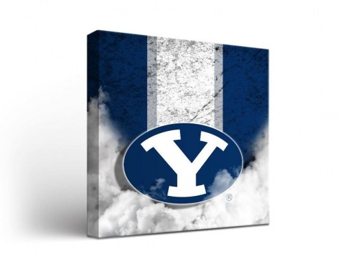 BYU Cougars Vintage Canvas Wall Art