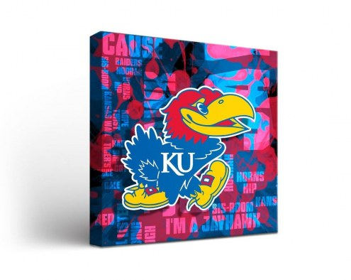 Kansas Jayhawks Fight Song Canvas Wall Art