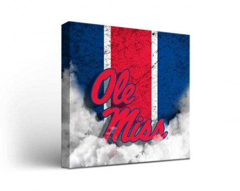 Mississippi Rebels Vintage Canvas Wall Art