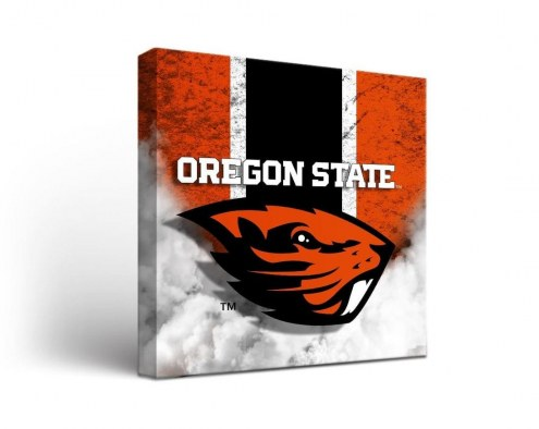 Oregon State Beavers Vintage Canvas Wall Art