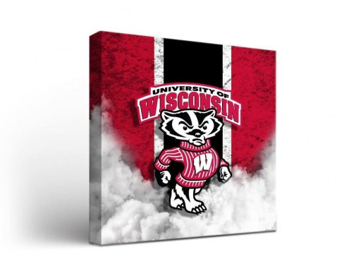 Wisconsin Badgers Vintage Canvas Wall Art