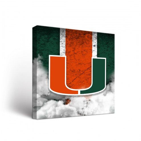 Miami Hurricanes Vintage Canvas Wall Art