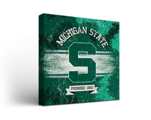 Michigan State Spartans Banner Canvas Wall Art