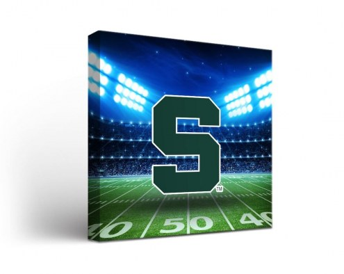 Michigan State Spartans Stadium Canvas Wall Art