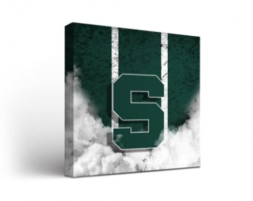 Michigan State Spartans Vintage Canvas Wall Art