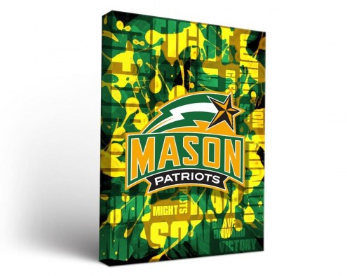 George Mason Patriots Fight Song Canvas Wall Art