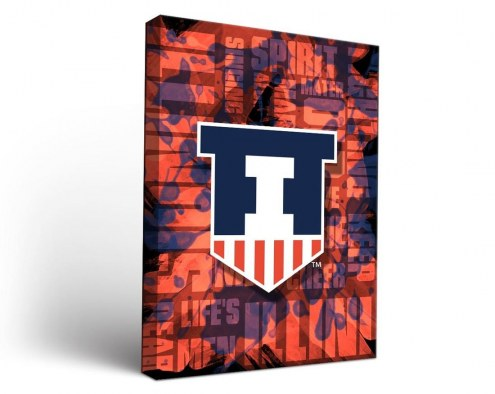 Illinois Fighting Illini Fight Song Canvas Wall Art