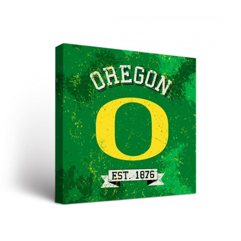 Oregon Ducks Banner Canvas Wall Art