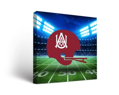 Alabama A&M Bulldogs Stadium Canvas Wall Art