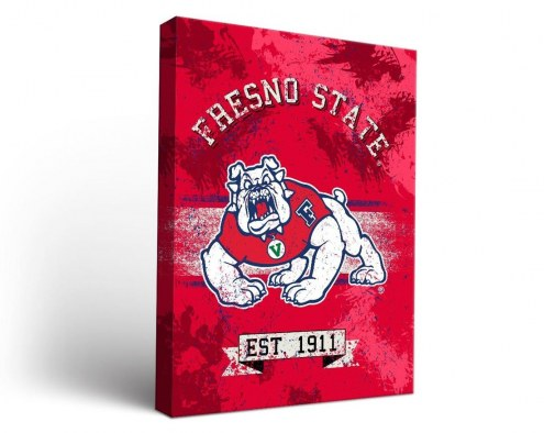 Fresno State Bulldogs Banner Canvas Wall Art