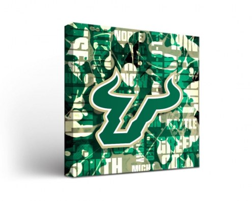 South Florida Bulls Fight Song Canvas Wall Art