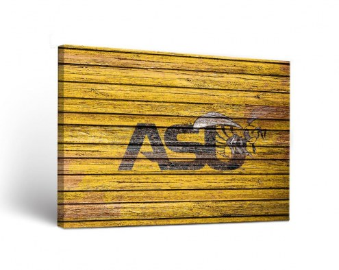 Alabama State Hornets Weathered Canvas Wall Art