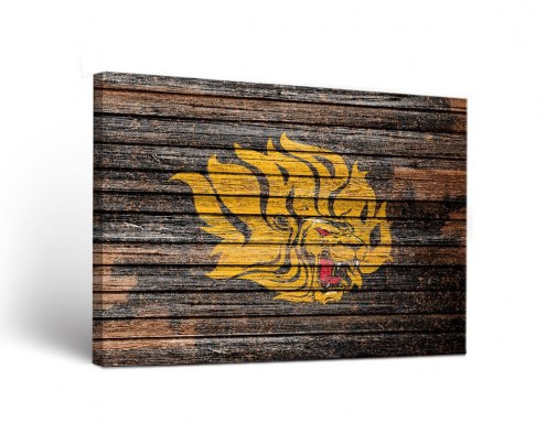 Arkansas-Pine Bluff Golden Lions Weathered Canvas Wall Art